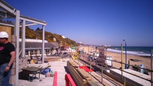 Durley Chine Cafe - view from terrace - April 2015